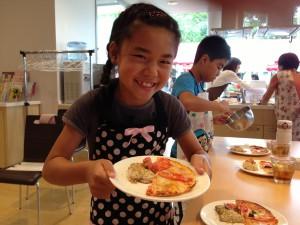料理講座の女の子