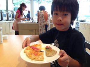 料理講座の男の子